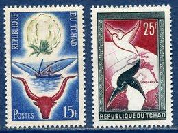Tchad - YT N° 60 Et 61 - Neuf Sans Charnière - 1959 - Ciad (1960-...)