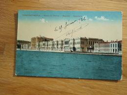 Cpa Constantinople Palais Du Dolma  - Bagtché - Bosphore. 1922 Force Publique Du C.O.F.C S.Postal 502 - Turkey