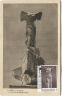 CM  Carte Maximum Statue  Victoire De Samothrace - Scultura