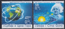 Yugoslavia (Serbia And Montenegro) 2005 International Year Of Physics - Albert Einstein, MNH (**) Michel 3283-3284 - Serbien
