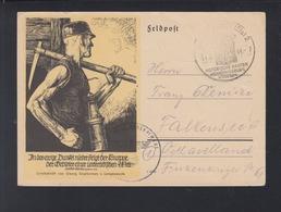 Dt. Reich Feldpost-PK 1944 Schlettstadt Frankreich France Sonderstempel - Cartas