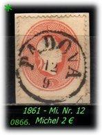 Österreich - Lombardei - Mi. Nr. 12 In Gebraucht - Oostenrijkse Levant