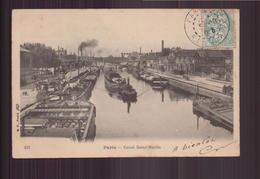 PARIS CANAL SAINT MARTIN 75 CARTE TAXEE - Frankreich