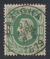 "émission 1869 - N°30 Obl Simple Cercle ""Bas - Oha"". TB - 1869-1883 Léopold II"