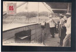 Congo Français A Bord - Le Pilotage Dans Les Passes Du Congo Ca 1910 Old Postcard - Congo Français - Autres