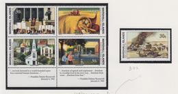 Marshall-eilanden Michel-cat  Jaar 1991 338/341 In Blok Van 4 +342  **/MNH - Marshalleilanden