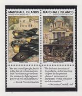 Marshall-eilanden Michel-cat  Jaar 1991 347/348 In Paar  **/MNH - Marshalleilanden