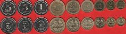 Tajikistan Set Of 9 Coins: 1 Diram - 5 Somoni 2019 UNC - Tadjikistan