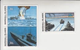 Marshall-eilanden Michel-cat  Jaar 1991 377+379/380(paar)  **/MNH - Marshalleilanden