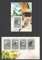 ST653 2014 GUINEE GUINEA FAUNA BIRDS OF PREY LES OISEAUX DE PROIE KB+BL MNH - Aigles & Rapaces Diurnes