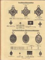 Catalogue Médaille Décoration 1939 50 JAHREN ORDEN EHRENZEICHEN Prusse Allemagne Nazi - Catalogues