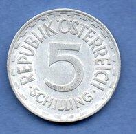 Autriche -  5 Schilling 1952 --  Km # 2879  - état  TTB - Austria