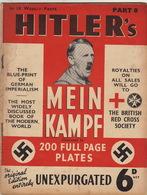 RARE Parution MEIN KAMPF Illustrée N°4 Hitler Nazi Pour La British Red Cross Sociéty Juif - Catálogos