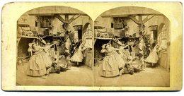 Photos Stéréoscopiques - Scène De Genre - Une Chute Dans La Cuisine - D 159 - Stereoscopio
