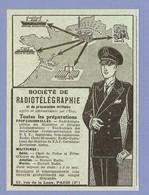 PUBLICITE 1953 - Sté De RADIOTÉLÉGRAPHIE BREVET RADIO TSF GÉNIE AVIATION MARINE - TOUTES PRÉPARATIONS MILITAIRES PARIS - Radios