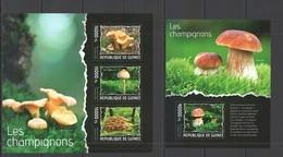 ST692 2014 GUINEE GUINEA FLORA PLANTS MUSHROOMS LES CHAMPIGNONS KB+BL MNH - Mushrooms