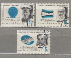 RUSSIA USSR 1963 Famous People Scientists Mi 2794-2796 Used (o) #24663 - Celebrità