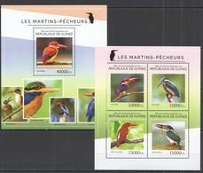 ST701  2014 GUINEE GUINEA FAUNA BIRDS LES MARTINS-PECHEURS KB+BL MNH - Oiseaux