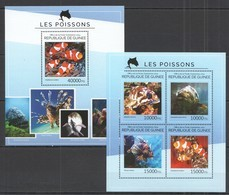 ST716 2014 GUINEE GUINEA FAUNA FISH & MARINE LIFE POISSONS KB+BL MNH - Marine Life