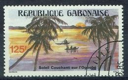 Gabon, Sunset, Ogooué River, 1984, VFU - Gabon