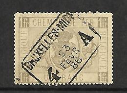 Spoorwegzegel/Chemins De Fer  TR6  1 FR.  4  BRUXELLES.MIDI A  1886 Sans  Trous/ Zonder Gaatjes - Usati