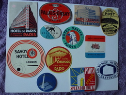 LOT N° 7 DE 12 ETIQUETTES D'HÔTEL, VOIR SCAN - Etiquettes D'hotels