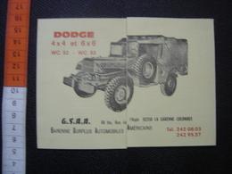 Publicite Tarif Pieces Detachees DODGE 4X4 6X6 Surplus Automobile Americain - Véhicules