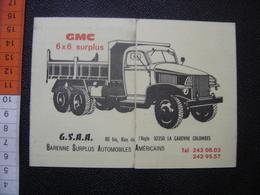 Publicite Avec Tarif Pieces Detachees GMC 6X6 Surplus Automobiles Americains - Véhicules