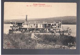 """Congo Français Le Vapeur """" Valérie """" De La C.M.F.C. 1919 Old Postcard - Congo Francese - Altri"""