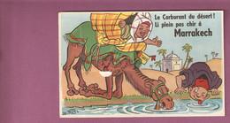 Cp à Systeme Marrakech Humoristique - Le Carburant Du Désert Li Plein Pas Chir - Chameau Taxi, Illustrateur Bozz N°38 - Dreh- Und Zugkarten
