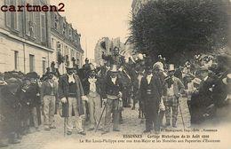 ESSONNES CORTEGE HISTORIQUE LE ROI LOUIS-PHILIPPE AVEC SON ETAT-MAJOR ET LES NOTABLES AUX PAPETERIES 91 - Essonnes