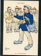 CPA - Illustration Gervèse - NOS MARINS - Le Vaguemestre - Krieg
