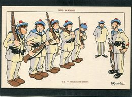 CPA - Illustration Gervèse - NOS MARINS - Premières Armes - Krieg