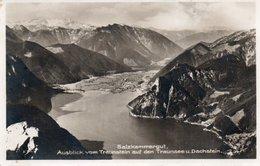 SALZKAMMERGUT -TRAUNSTEIN AUF DEN TRAUNSEE U. DACHSTEIN-REAL FOTO-1929 - Traun