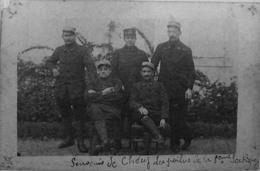 Carte Photo : Chécy : Souvenir De Chécy, Les Poilus De La 5ème Section - Other Municipalities