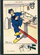 CPA - Illustration Gervèse - NOS MARINS - Torpilleur - Krieg