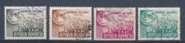 Indonesië/Indonesia/Indonésie/Indonesien 1955 Mi: 134-137 Yt: 88-91 (Gebr/used/obl/o)(4956) - Indonesia