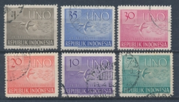 Indonesië/Indonesia/Indonésie/Indonesien 1951 Mi: 94-99 Yt: 47-52 (Gebr/used/obl/o)(4961) - Indonesia