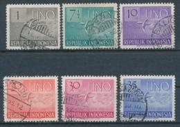 Indonesië/Indonesia/Indonésie/Indonesien 1951 Mi: 94-99 Yt: 47-52 (Gebr/used/obl/o)(4962) - Indonesia
