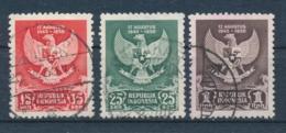 Indonesië/Indonesia/Indonésie/Indonesien 1950 Mi: 65-67 Yt: 21-23 (Gebr/used/obl/o)(4966) - Indonesia