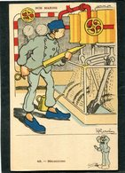 CPA - Illustration Gervèse - NOS MARINS - Mécanicien - Krieg