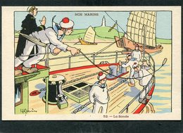 CPA - Illustration Gervèse - NOS MARINS - La Sonde - Krieg