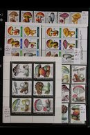 FUNGI ON STAMPS - EUROPE.  An Amazing Collection Of Mushrooms / Fungi On Never Hinged Mint European Sets, Miniature Shee - Stamps