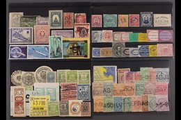 WORLDWIDE PHILATELIC CURIOSITIES ON STOCKCARDS  A Fascinating And Valuable Hoard Randomly Displayed On About 50 Stockcar - Stamps