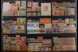 INTERESTING AND UNUSUAL ARRAY IN AN OLD AUCTION FOLDER  Philatelic Curiosities Displayed On About Twenty Stockcards - Wo - Stamps