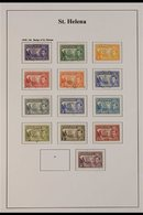 """BRITISH COMMONWEALTH - KGVI USED """"SAINTS"""" COLLECTION.  A Well Presented, All Different Collection, Light Hinged Onto Pri - Stamps"""