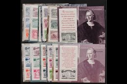 COLUMBUS  OMNIBUS ISSUES 1992 USA, Italy, Portugal And Spain Miniature Sheets Complete Sets, Never Hinged Mint, Fresh. ( - Stamps
