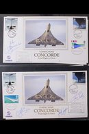 """CONCORDE  2000 - 2003. A Magnificent Limited Edition Covers Collection Presented In A Red """"Lindner"""" Covers Album With Ma - Stamps"""