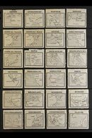 MAPS ON STAMPS  Early 1900's All Different Collection Of Mint Gummed Labels From France With Each Showing The Geographic - Stamps