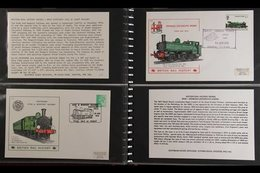 """RAILWAYS  1973-78 """"British Rail History"""" Series All Different Collection Of Illustrated Covers In Two Volumes, All Beari - Stamps"""